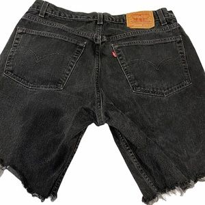 Levi 505 Vintage Black Mom Jean Shorts